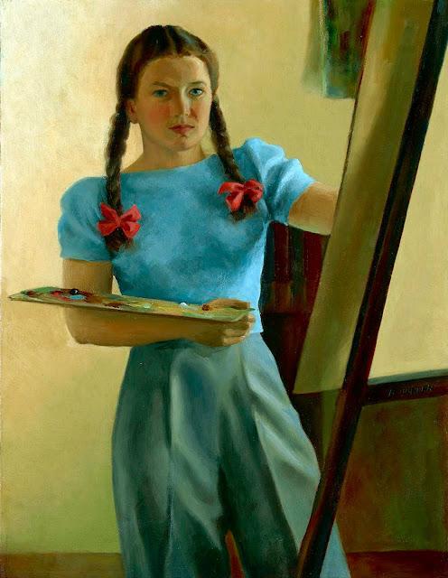 Alma Mary Duncan, Self Portrait, Portraits of Painters, Fine arts, Portraits of painters blog, Paintings of Alma Mary Duncan, Painter Alma Mary Duncan