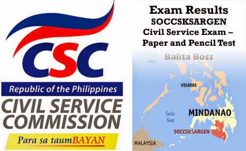 Region 12 - Civil Service Exam Results