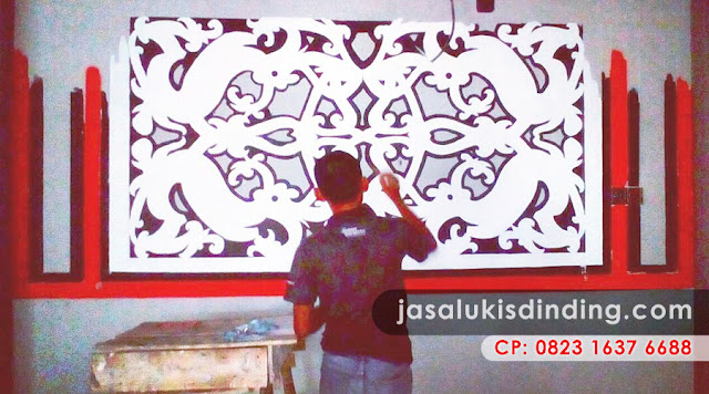 Mural café Surabaya, Mural Café Hitam Putih, Wall Mural Café, French Café Mural, Café Mural Wallpaper