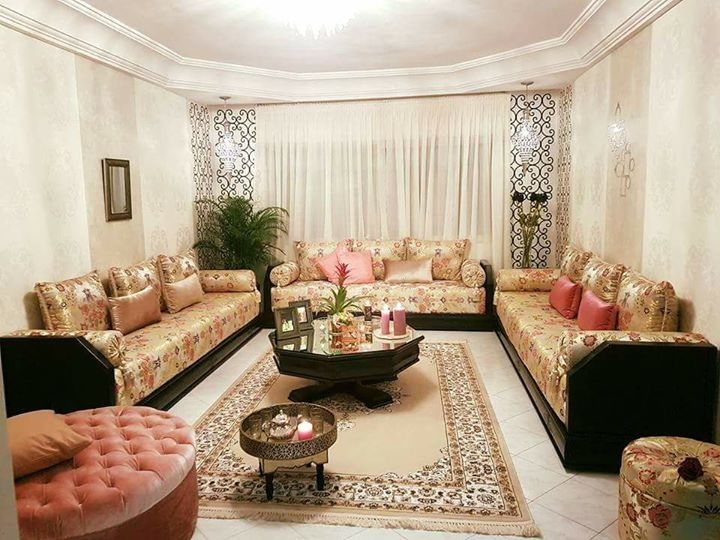 2017 salon marocain moderne. Black Bedroom Furniture Sets. Home Design Ideas