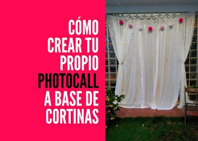 como hacer tu propio photocall original y fácil con cortinas