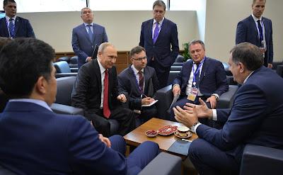 Vladimir Putin, Milorad Dodik, Nechirvan Barzani, Yukiya Amano.