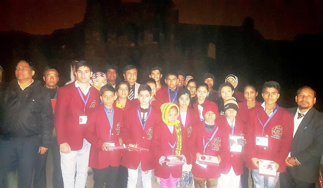 A K Gupta, GM, SEL, ITDC with National Bravery award winners at Purana Qila-