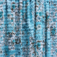 floral blue ruffle shower curtain