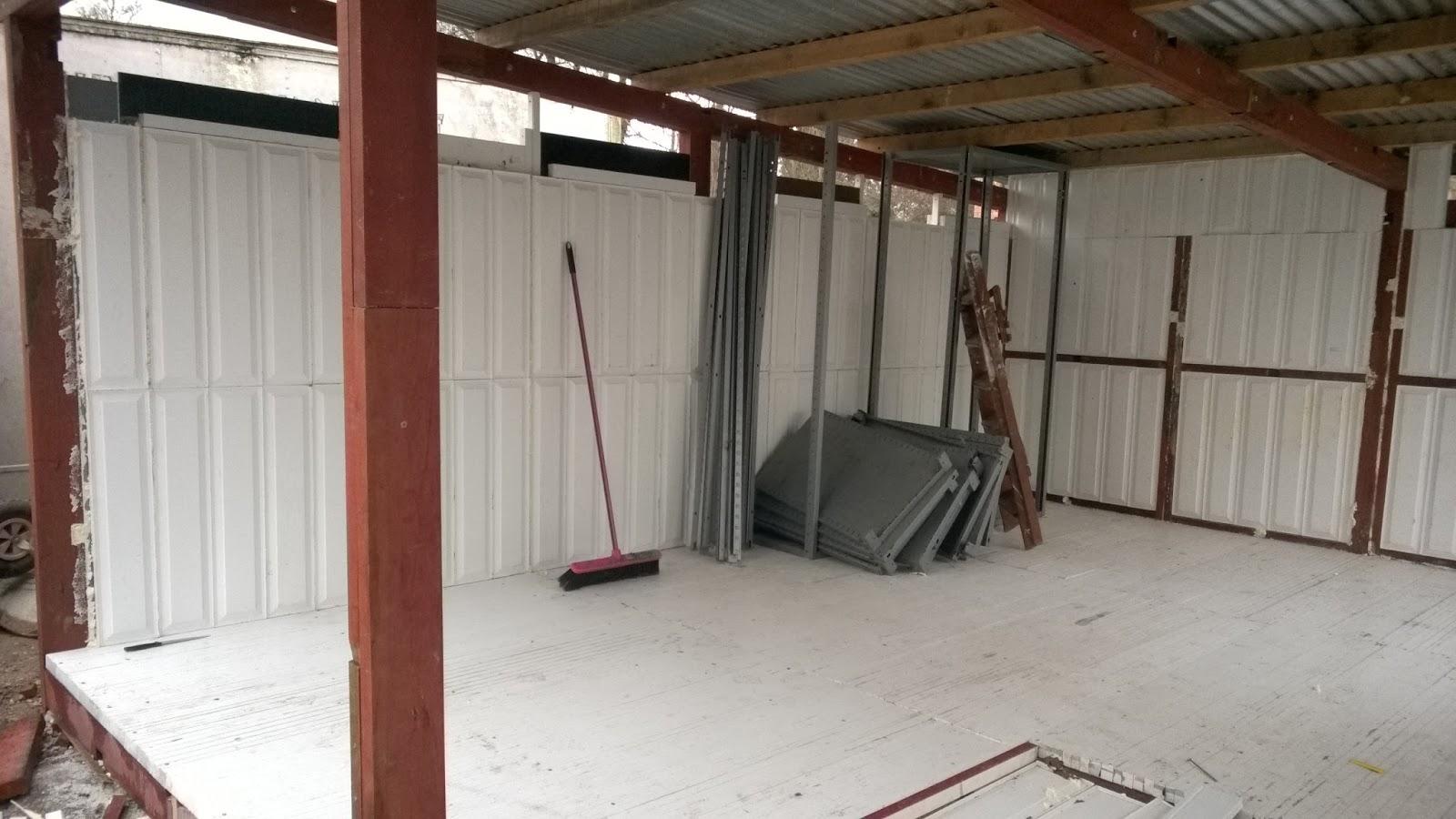 Wood framed door panels & grp door edge floor