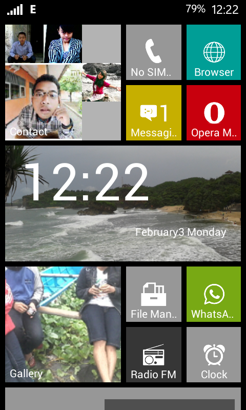 Home Screen Android Windows Phone 8