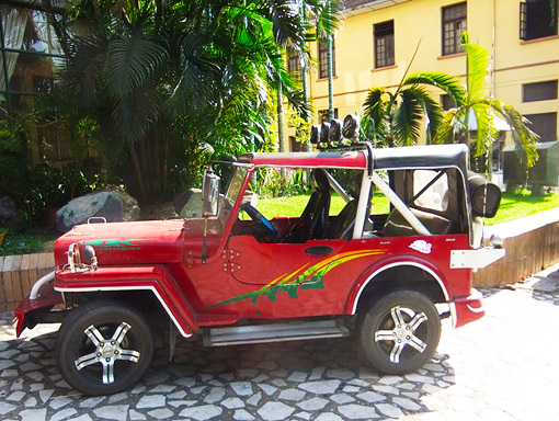 vintage jeep in Yangon Myanmar