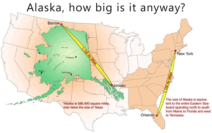 Alaska, how big is it anyway?
