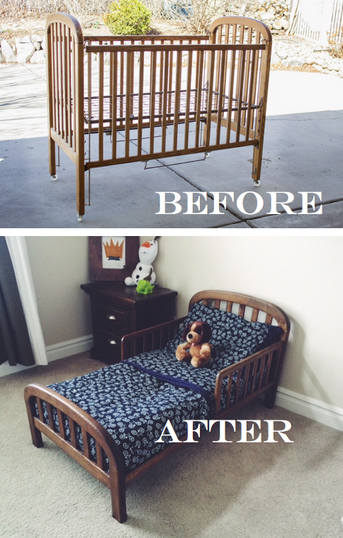 Do It Yourself Divas DIY Old Crib Into Toddler Bed