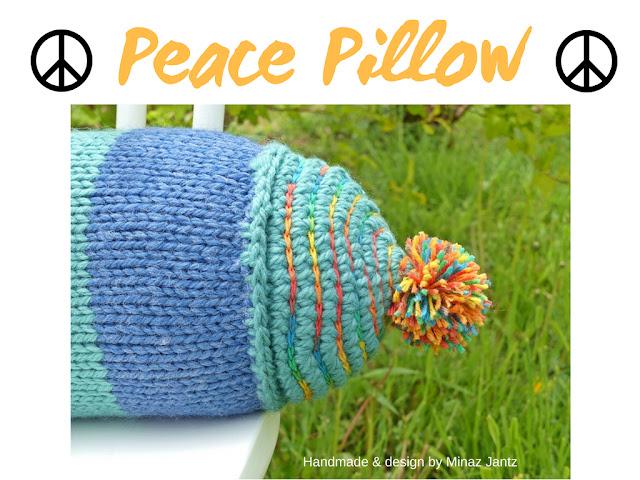 Peace Pillow handmade & design by Minaz Jantz