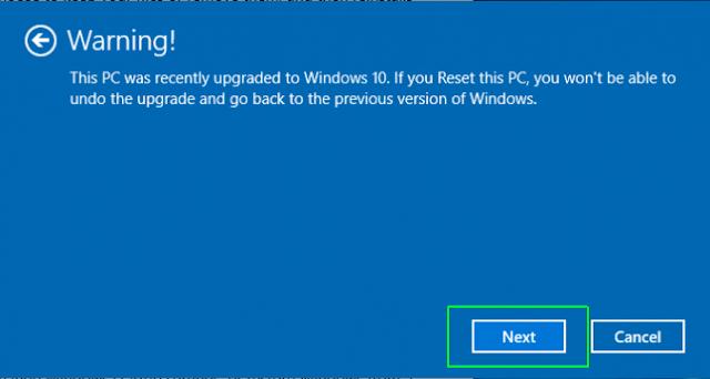 langkah langkah mereset komputer