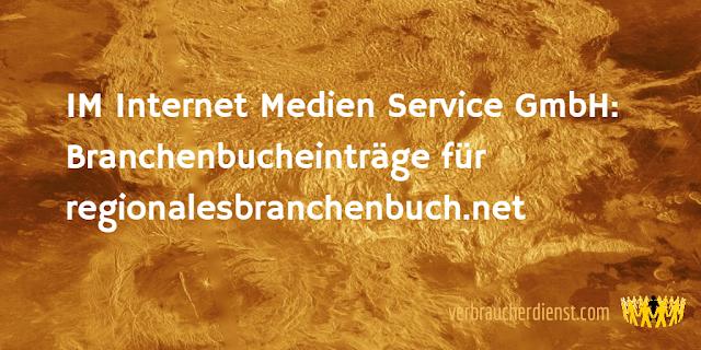 Titel: IM Internet Medien Service GmbH: Branchenbucheinträge für regionalesbranchenbuch.net