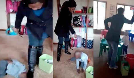 Footage Of Woman 'Beating Nursery Children' Goes Viral