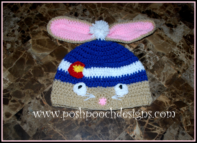 Posh Pooch Designs Dog Clothes: Colorado Bunny Beanie Hat ...
