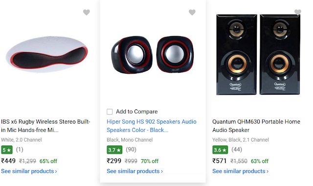 Flipkart Offer : Get upto 60% off on Speakers (LOOT)