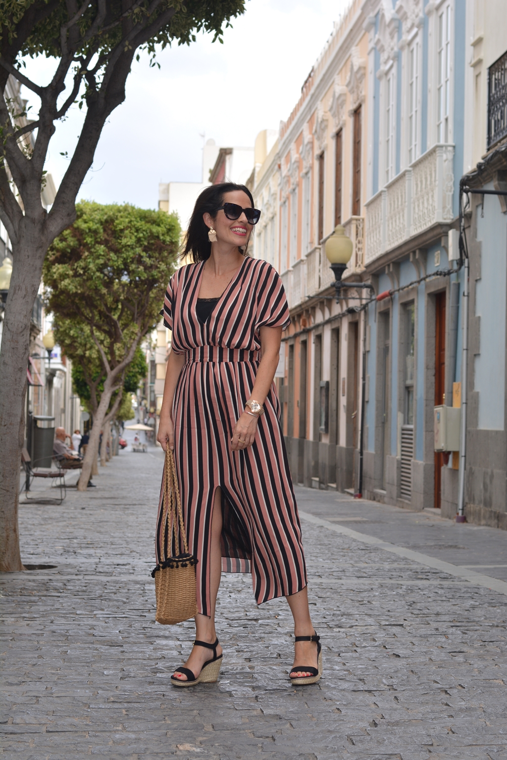 zara-striped-midi-dress-look-streetstyle