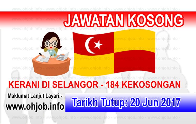 Jawatan Kerja Kosong Kerani di Selangor logo www.ohjob.info jun 2017