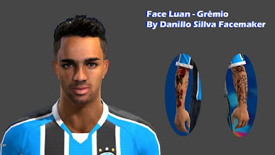 PES 2013 Face Luan - Gremio By Danillo Sillva Facemaker