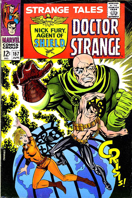 Strange Tales v1 #157 nick fury shield comic book cover art by Jim Steranko