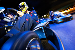 Indoor Karting at night