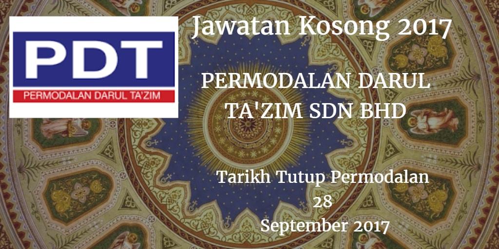 Jawatan Kosong PDT 28 September 2017