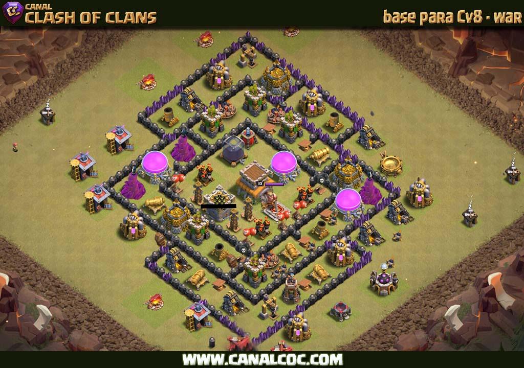 base cv8 war 191 canal clash of clans