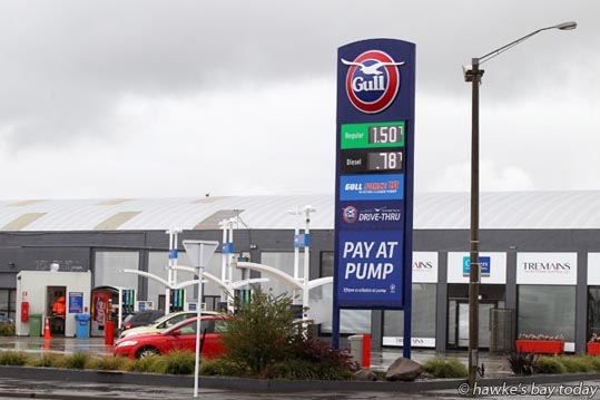 Regular 91 selling for 150.7 cents at Gull Service Station, Karamu Rd, Hastings - Petrol prices in Hastings ranged from 150.7 cents at Gull Karamu, to 169.9 cents at BP, Railway Rd, Hastings. The Gull special lasted till 12 noon 22 September. photograph
