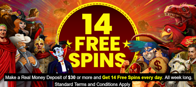 14 Free Spins Daily at Planet7 Casino