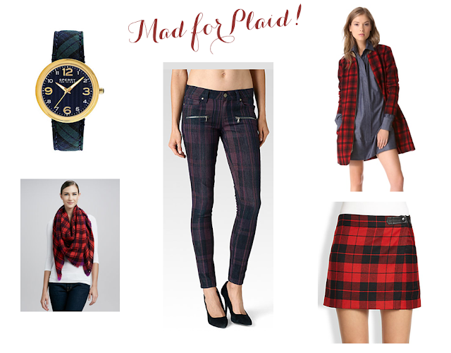 Plaid watch plaid scarf plaid skirt