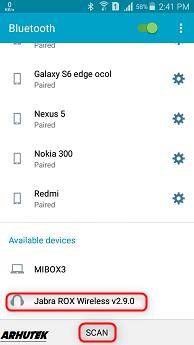 Cara Pairing Headset Bluetooth