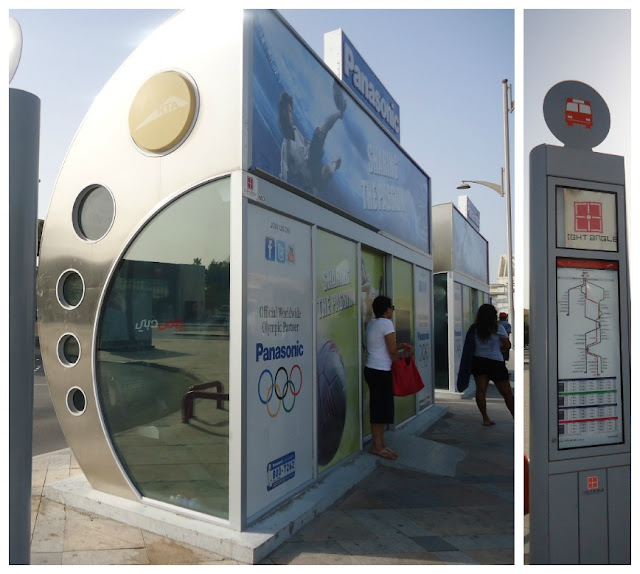 Bus stop near Jumeirah Open beach