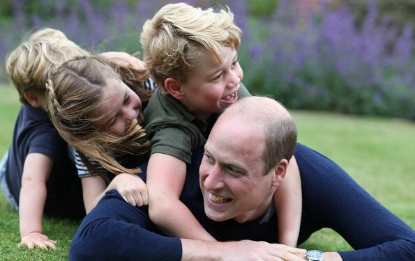 Princess Charlotte wore John Lewis Partners embroidered dungaree shorts and Hampton Canvas shoes, Prince Louis wore Gap polo shirt
