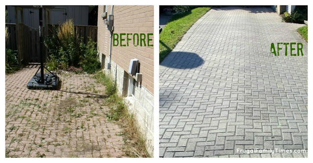 how to make a weed free brick driveway or patio that stays that way