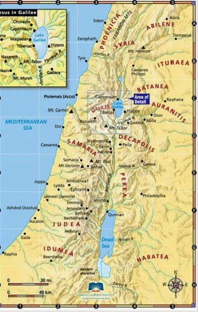 Galilea-mapa