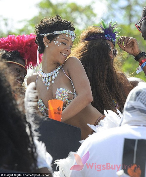 WigsBuyOnline Blog: Pop Star Rihanna Attends Barbados Carnival
