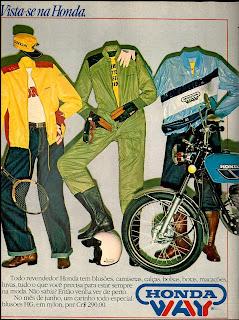 propaganda roupas Honda Way - 1979