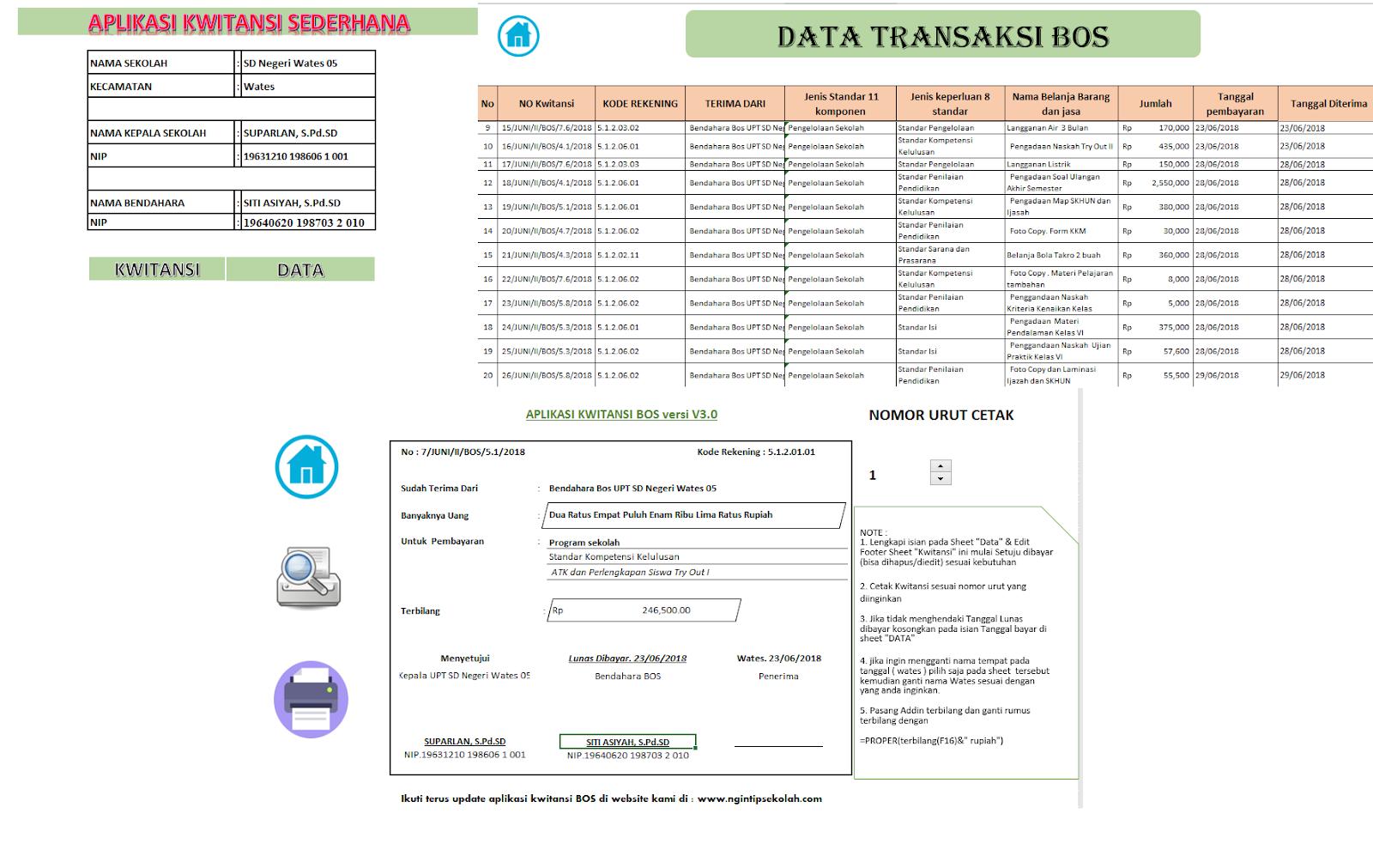 Download Aplikasi Kwitansi Laporan Lpj Bos Tahun 2018