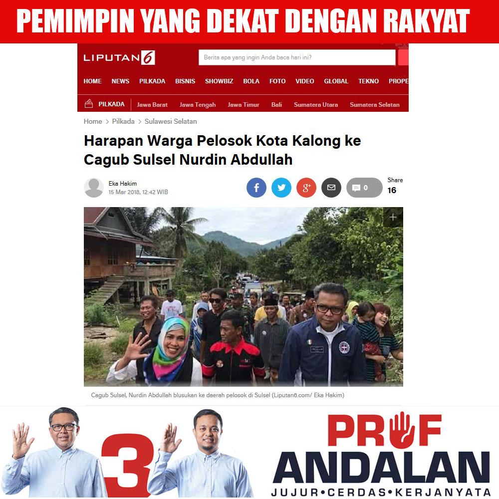 Harapan Warga Pelosok Kota Kalong ke Cagub Sulsel Nurdin Abdullah