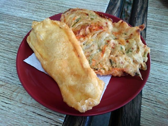野菜と芋の天ぷらの写真