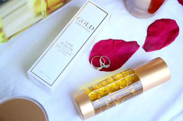 Linden leaves gold body oil nz