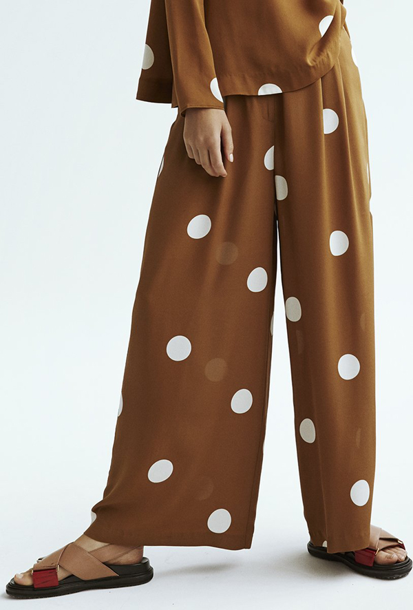 september list, kokoon cecco silk pants, suede brown, via scandinavian love song