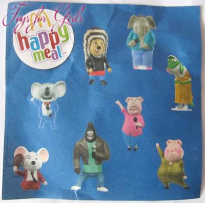 8 героев из мультика Sing (Спивай). Интерактивные игрушки Happy Meal из Макдоналдса Украины.