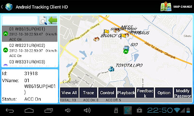 Monitoring GPS tracer via aplikasi android