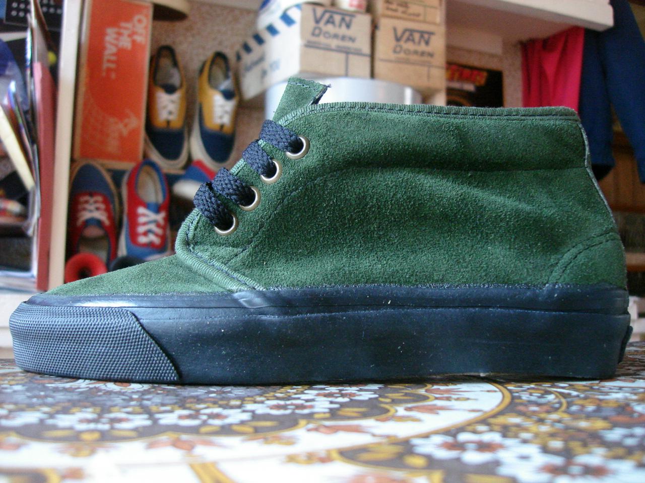 Theothersideofthepillow Vintage Vans Dark Green Suede