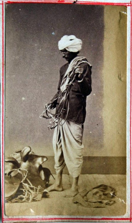 A Horse Groom - Vintage Photograph, India, c1880's