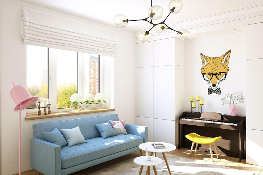 wystrój wnętrz, wnętrza, urządzanie mieszkania, dom, home decor, dekoracje, aranżacje, małe wnętrza, małe mieszkanie, styl nowoczesny, modern style, kolorowe dodatki, color decor, pastelowe kolory, salon, living room, kuchnia, kitchen, lisek