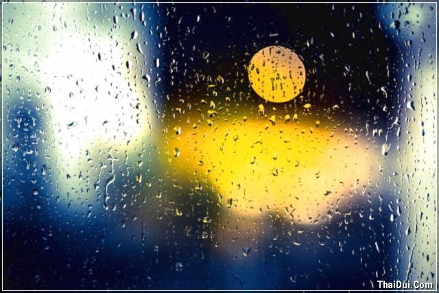 ảnh mưa nhạt nhòa