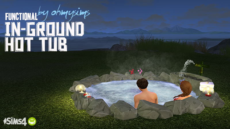 My Sims 4 Blog Ts3 Functional In-Ground Hot Tub -7173