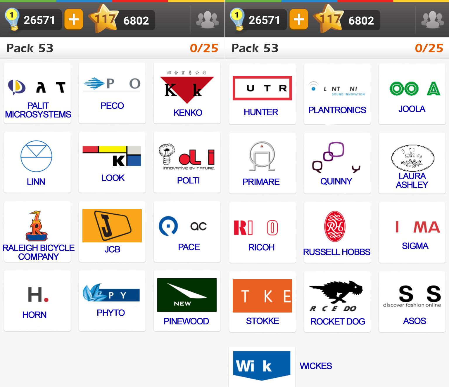 Bien connu Logo Game: Guess the Brand [Regular] Pack 53 ~ Doors Geek AF71