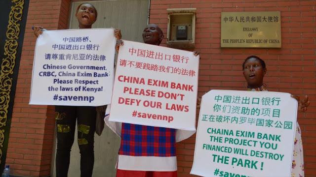 Protestas contra la construcción de un tren chino en Kenia